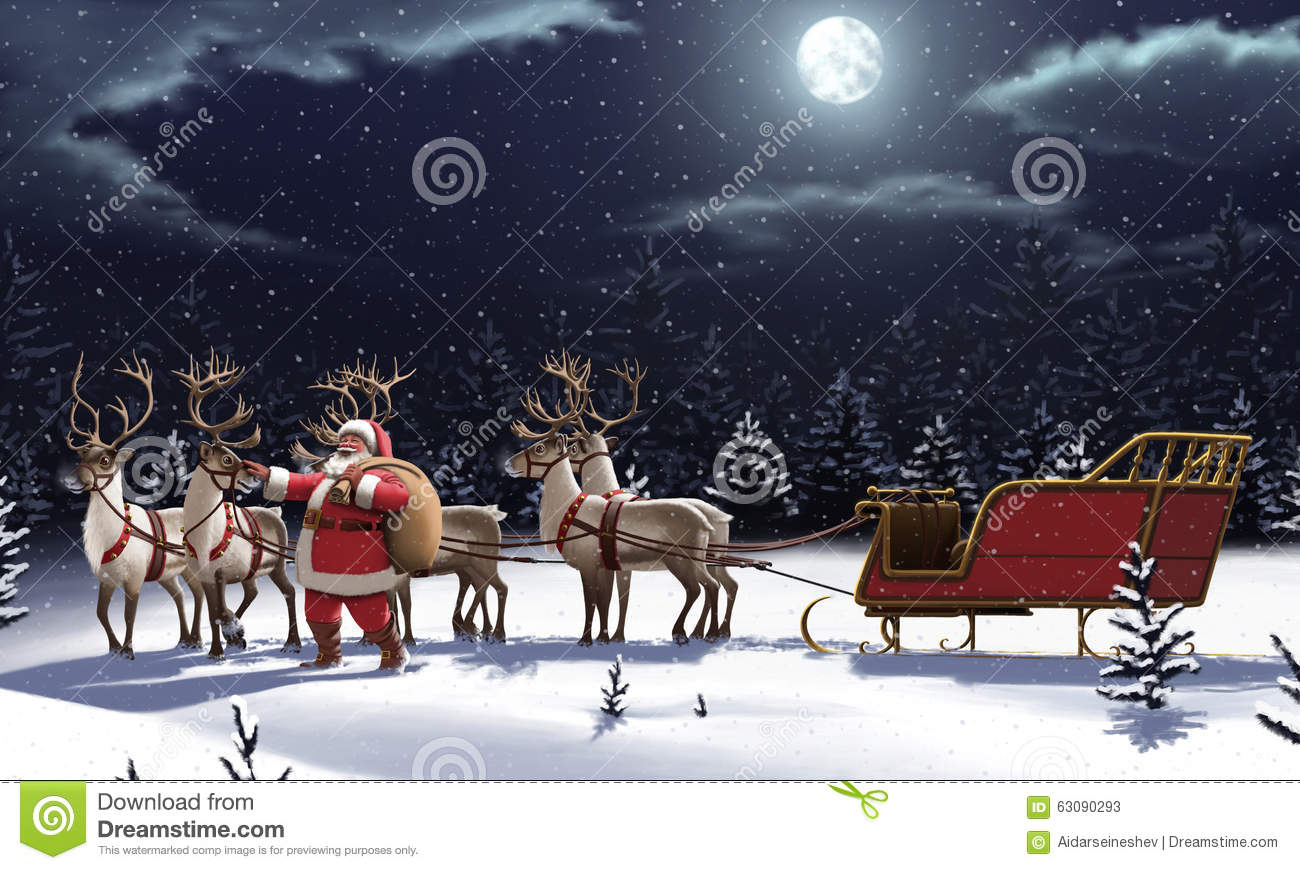 Download Le père noël _2 illustration stock. Illustration du noël - 63090293