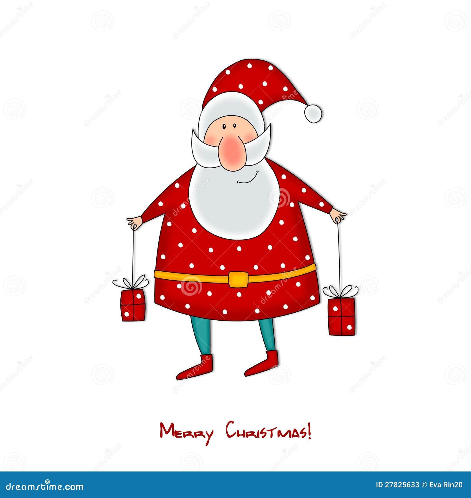 Le Père Noël Avec Des Cadeaux Personnages De Dessin Animé