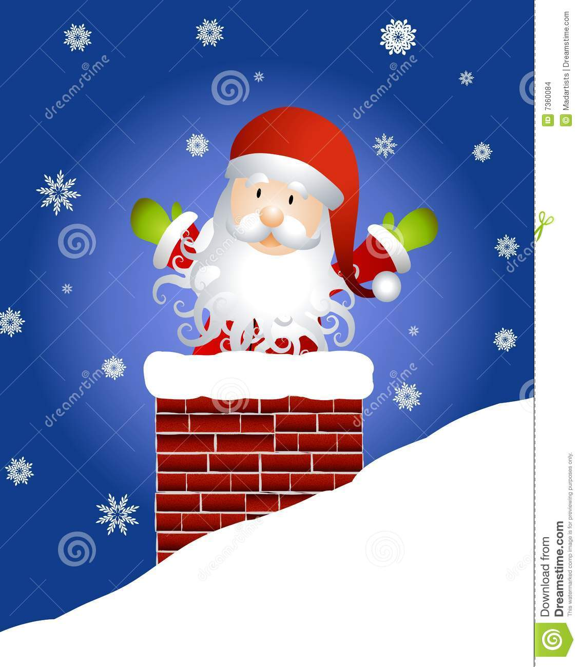 Le p re no l dans la chemin e illustration stock illustration du clip claus 7360084 - Pere noel dans la cheminee ...