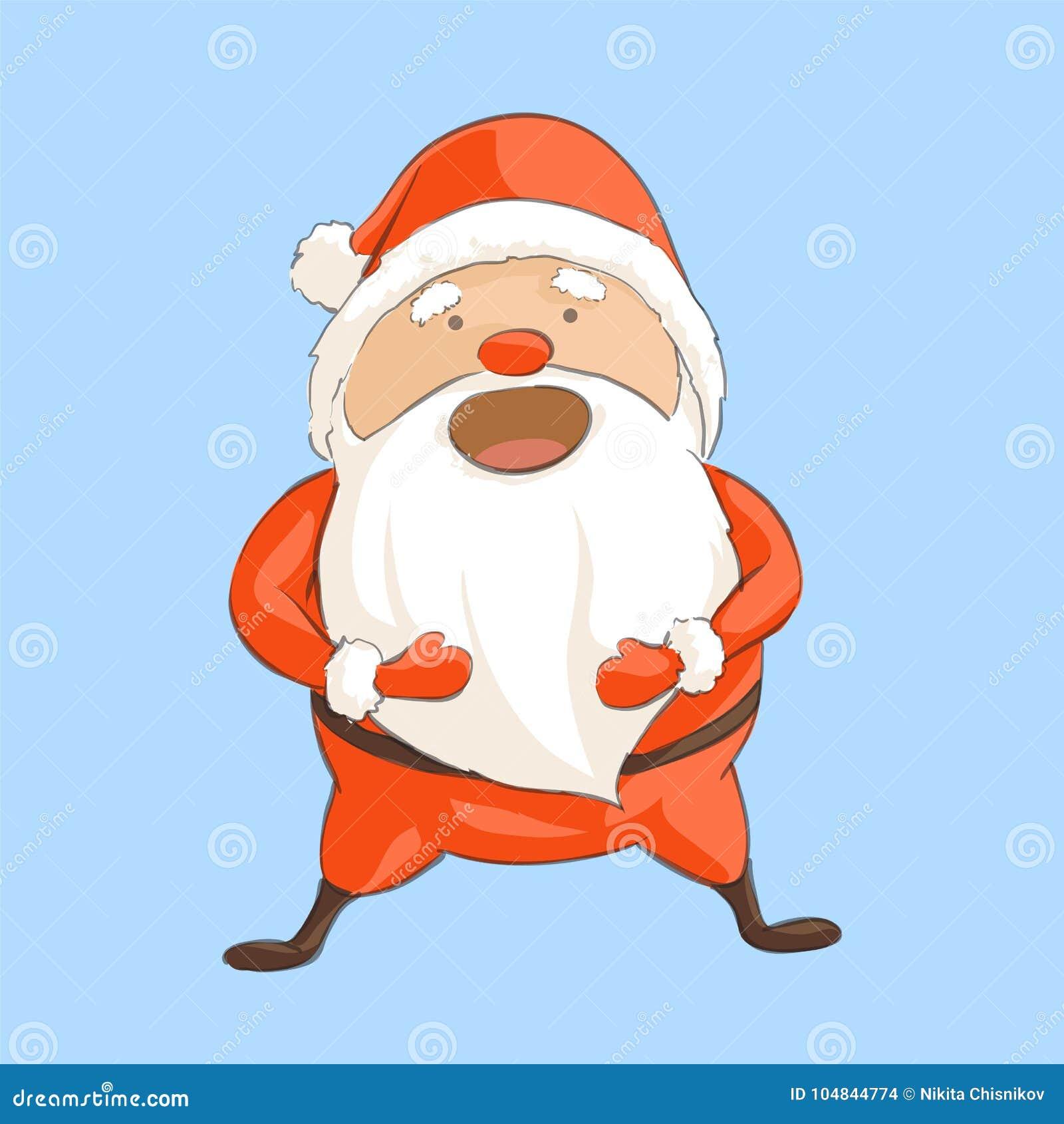 Voix Du Pere Noel Le Père Noël Rit à Haute Voix Illustration de Vecteur