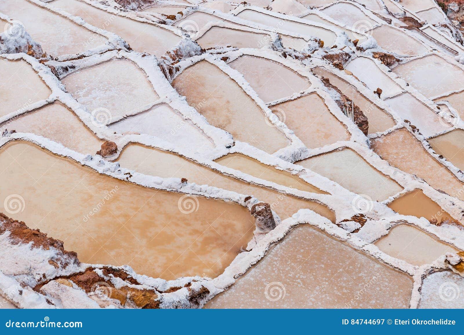 Le Pérou - la Salinas de Maras Mine naturelle de sel Inca Salt filtre, près de Cuzco en vallée sacrée, le Pérou
