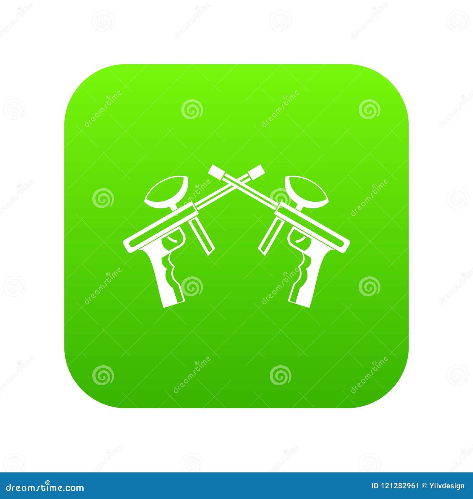 Le Paintball lance le vert numérique d icône