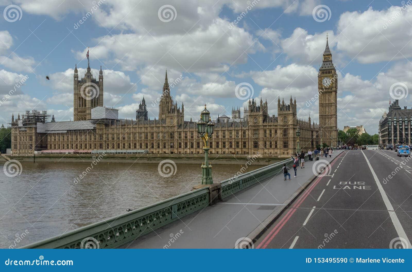 Le palais de Westminster, Chambres du Parlement, le Parlement britannique Le Royaume-Uni, Londres