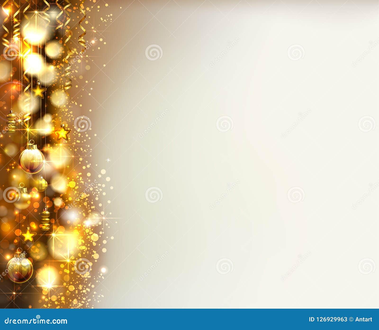 Le palle di sera di natale sul lustro hanno baluginato fondo di Natale