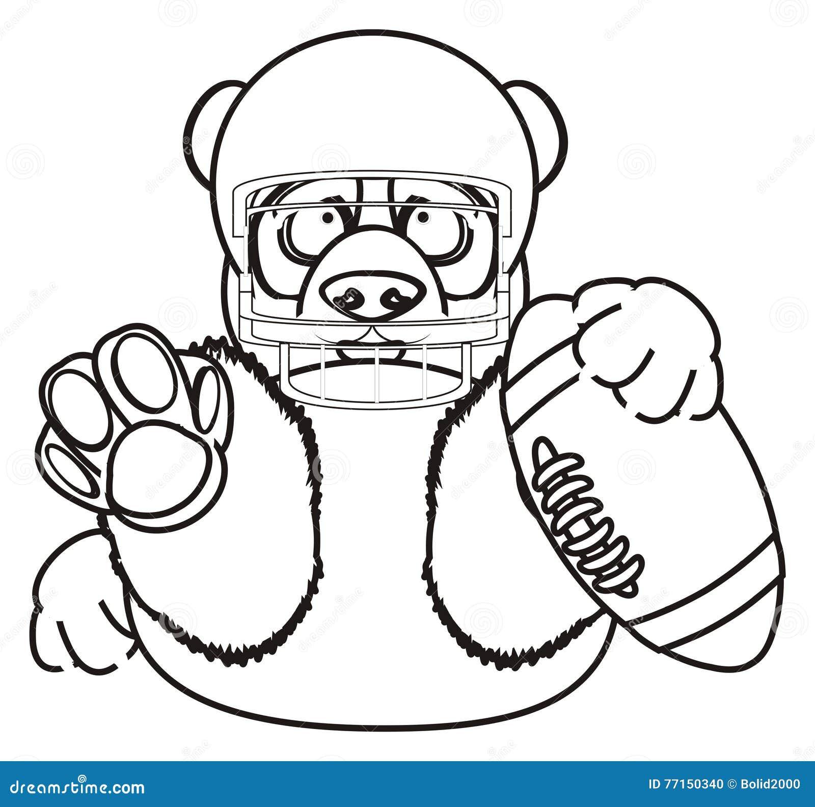 Le panda de coloration veulent le jeu au rugby