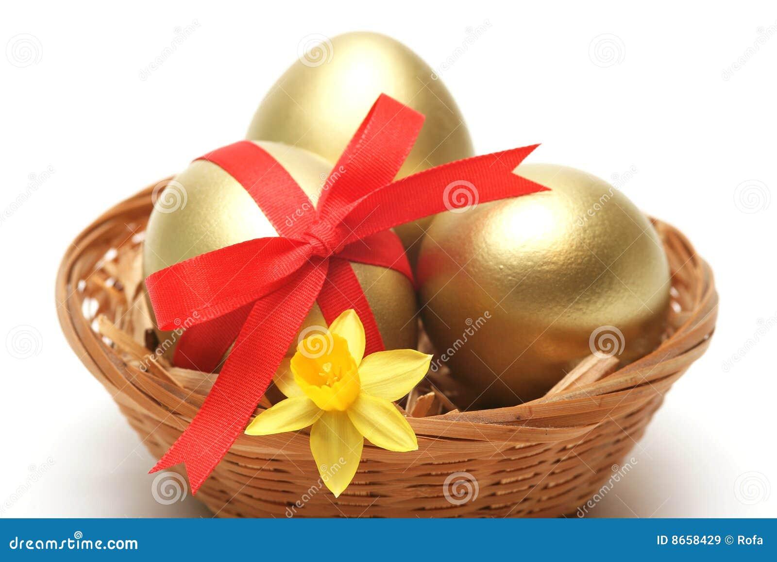 Le panier eggs d or