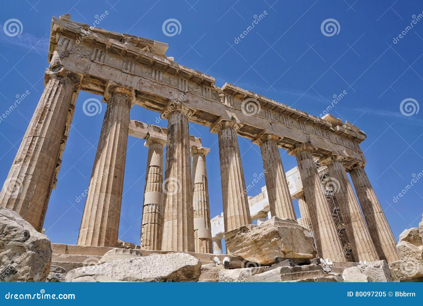 Le parthenon est un temple à Athènes, Grèce