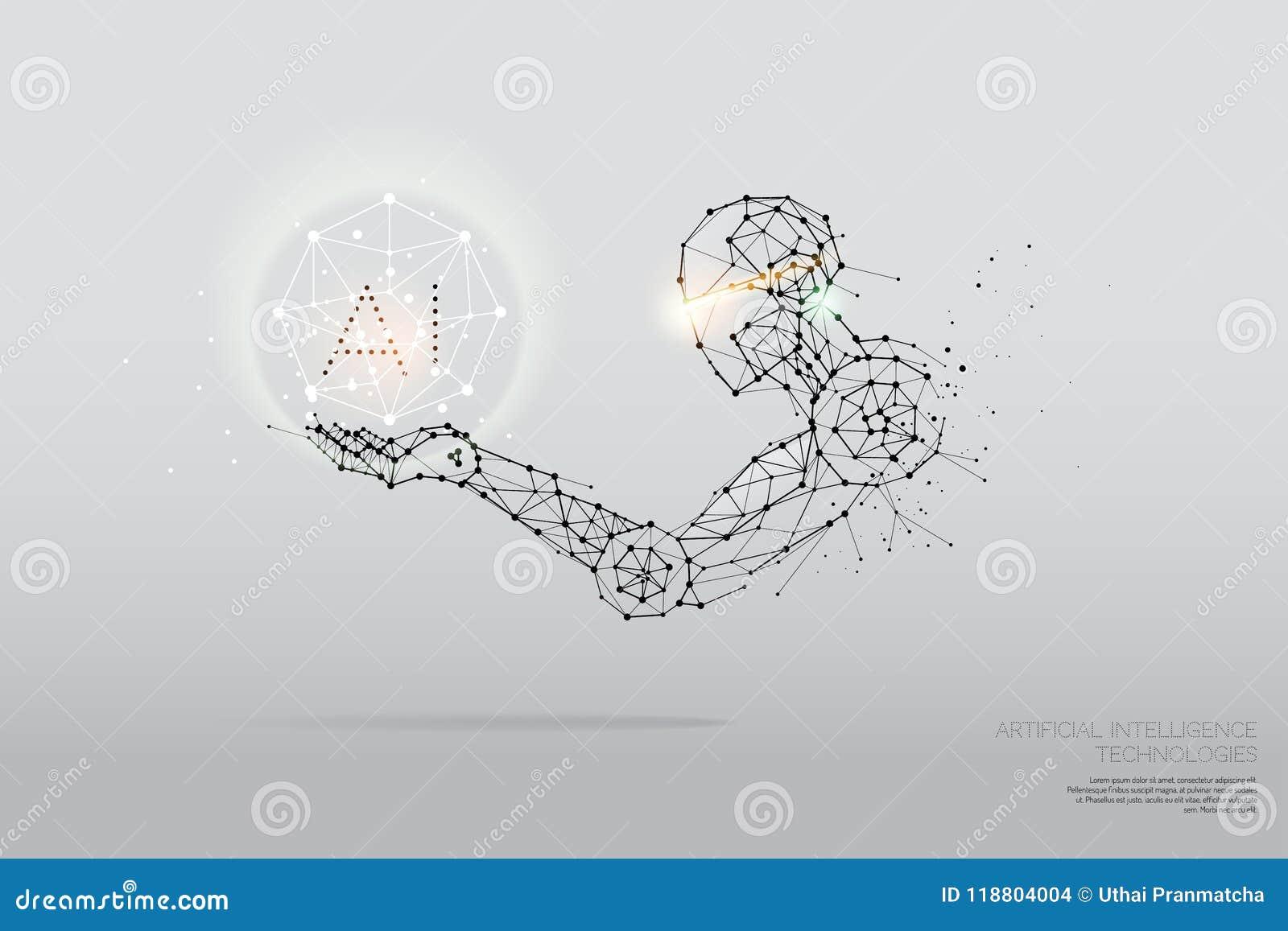 Le particelle, l arte geometrica, la linea ed il punto di tecnologia di AI