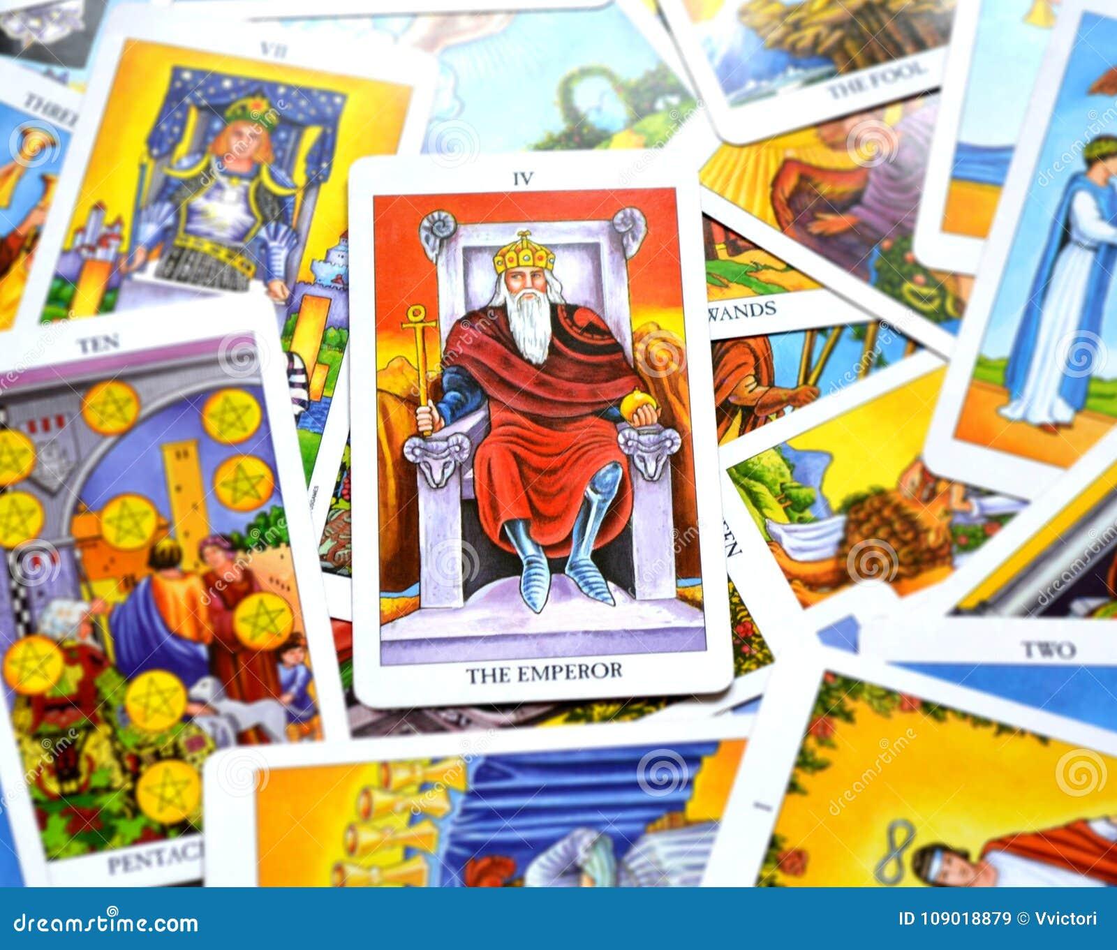 Le patron de Ruler King Governor du Chef de puissance de carte de tarot d empereur