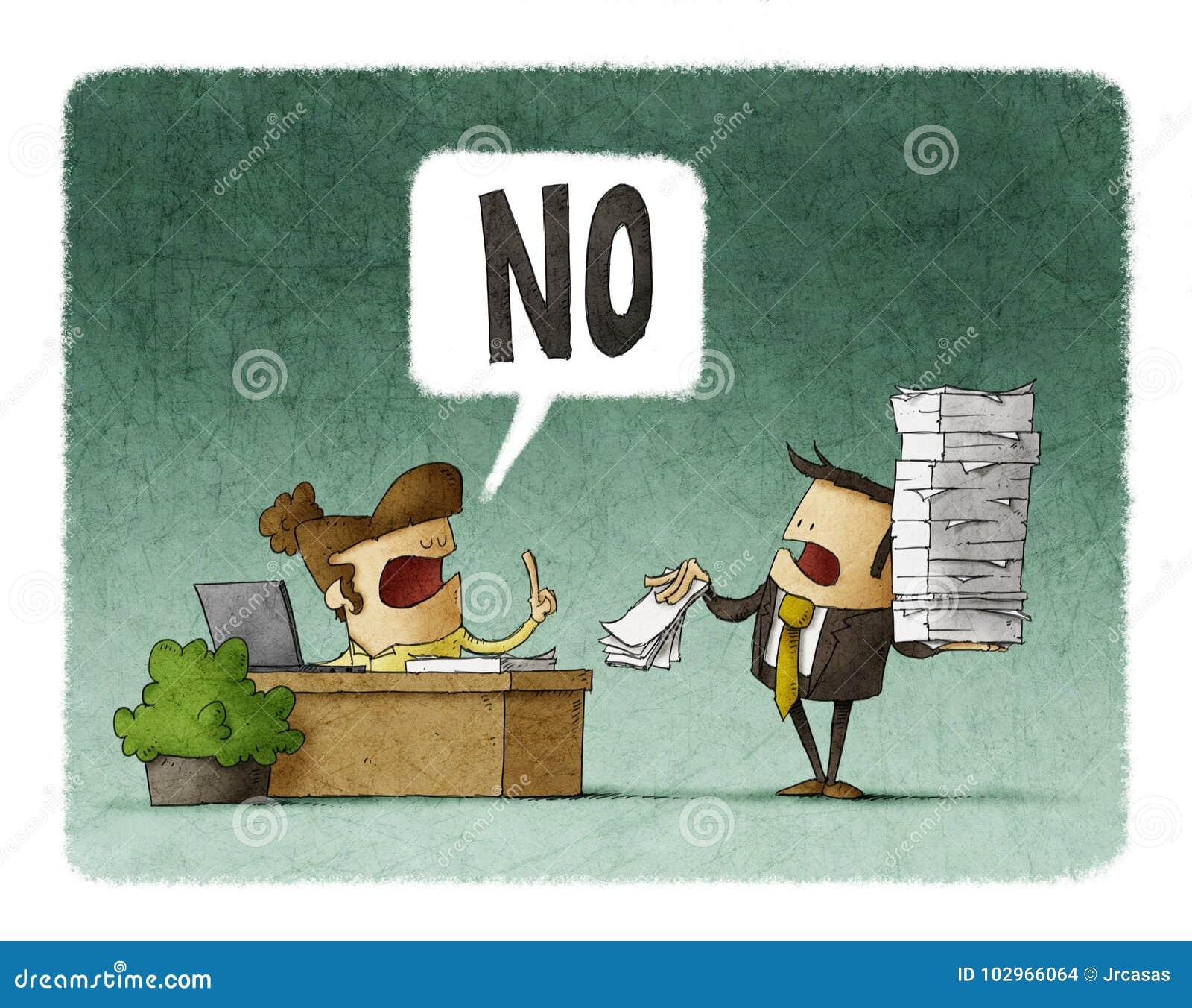 Le patron donne plus de travail à un employé et il dit non