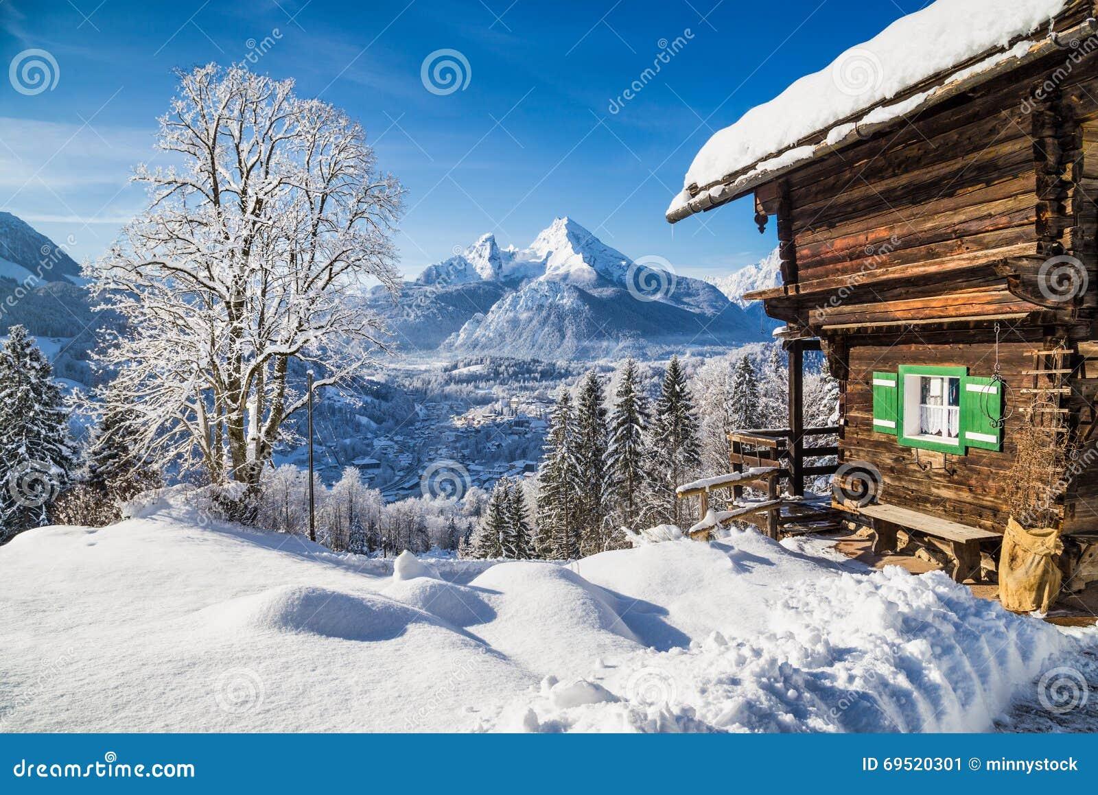 le pays des merveilles d 39 hiver avec le chalet de montagne. Black Bedroom Furniture Sets. Home Design Ideas