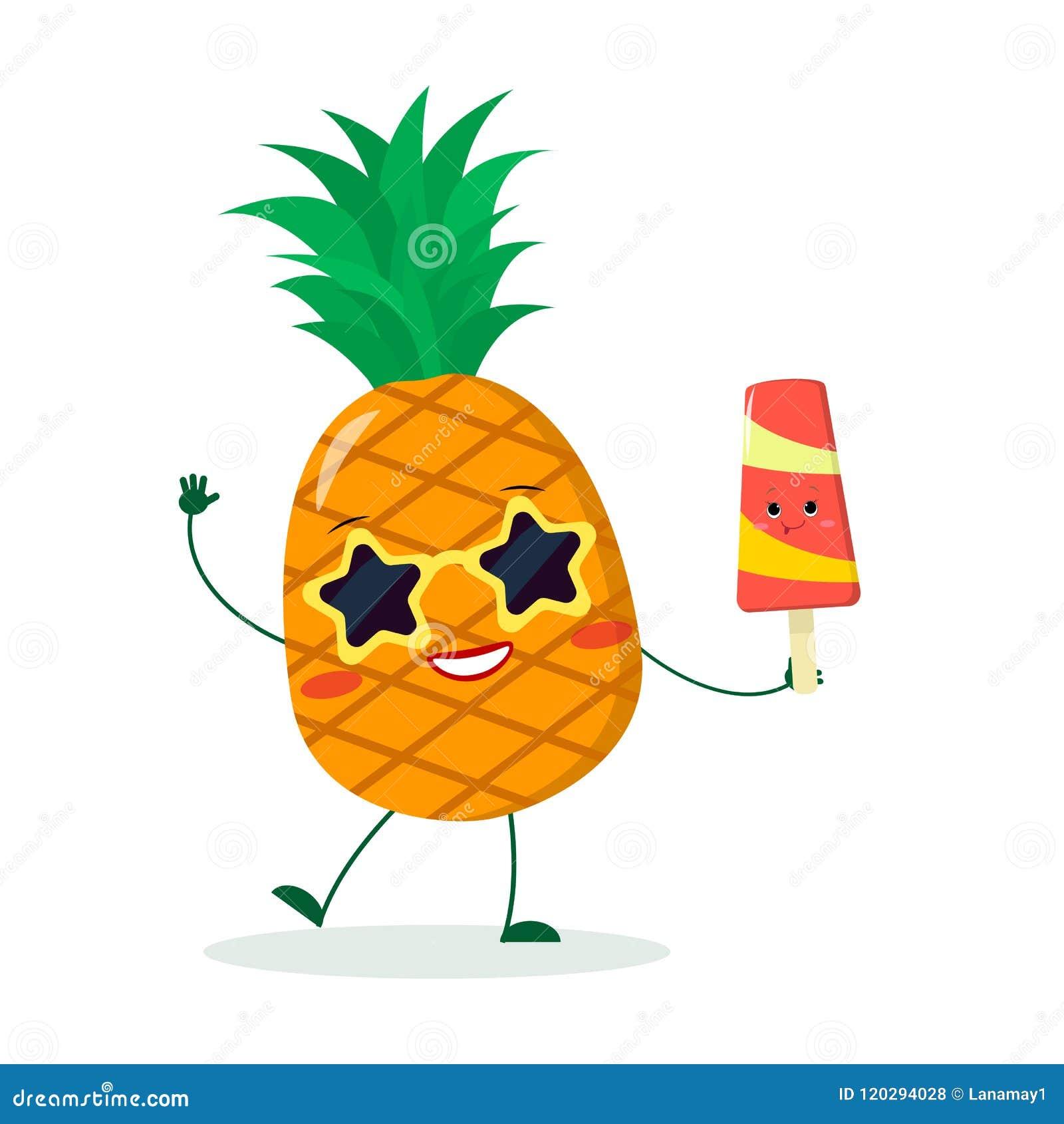 qualité de la marque qualité Nouvelle liste Le Personnage De Dessin Animé Mignon D'ananas Dans Des ...