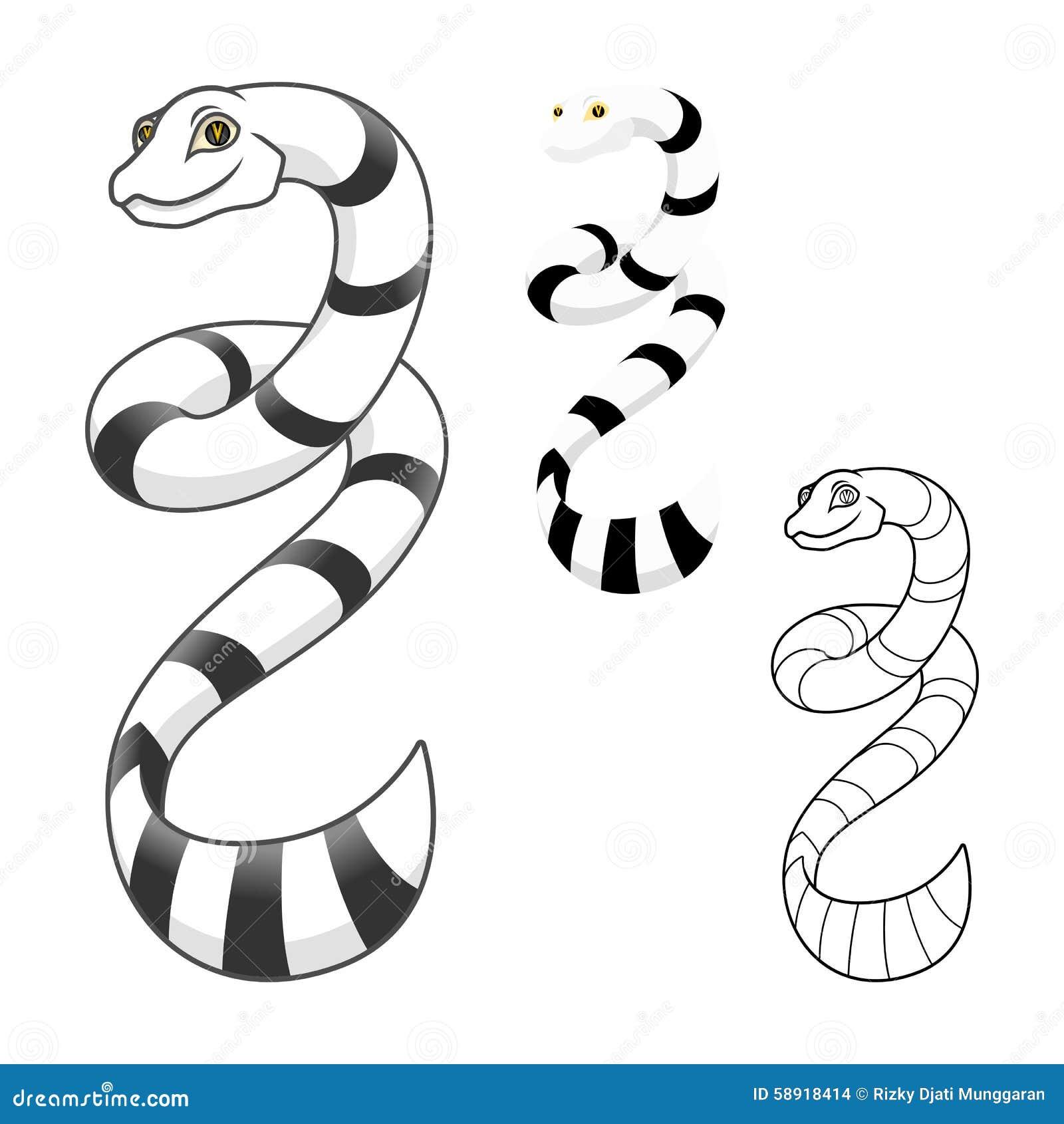 Le personnage de dessin anim de haute qualit de serpent - Dessin de serpent ...