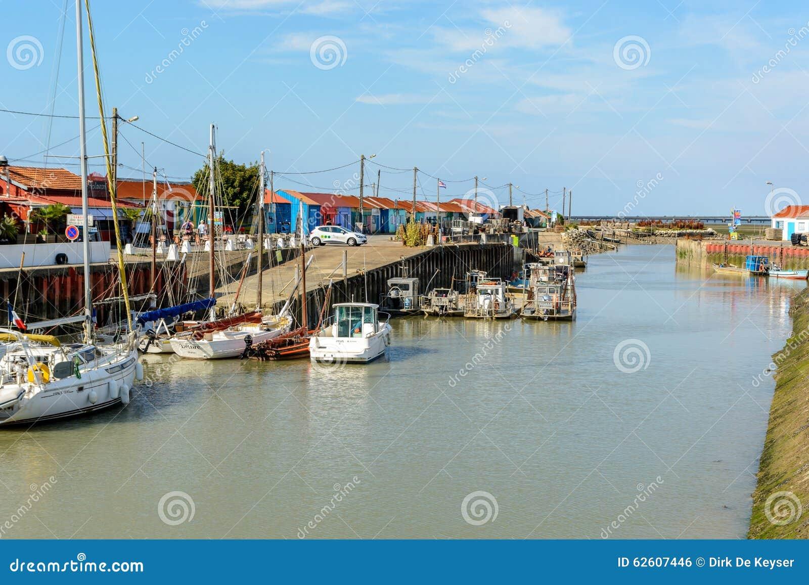 Le Petit村庄,种田Ile的d Oleron,法国的牡蛎站点