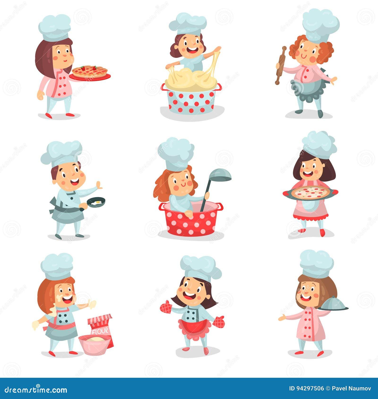 Le Petit Chef Mignon De Cuisinier Badine Des Personnages De Dessin