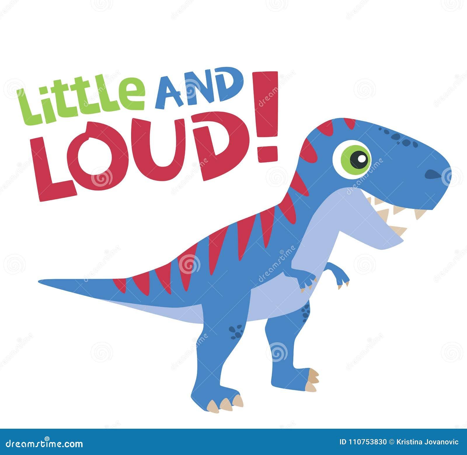 Le Petit Et Bruyant Texte Avec Le Tyrannosaure Mignon Rex