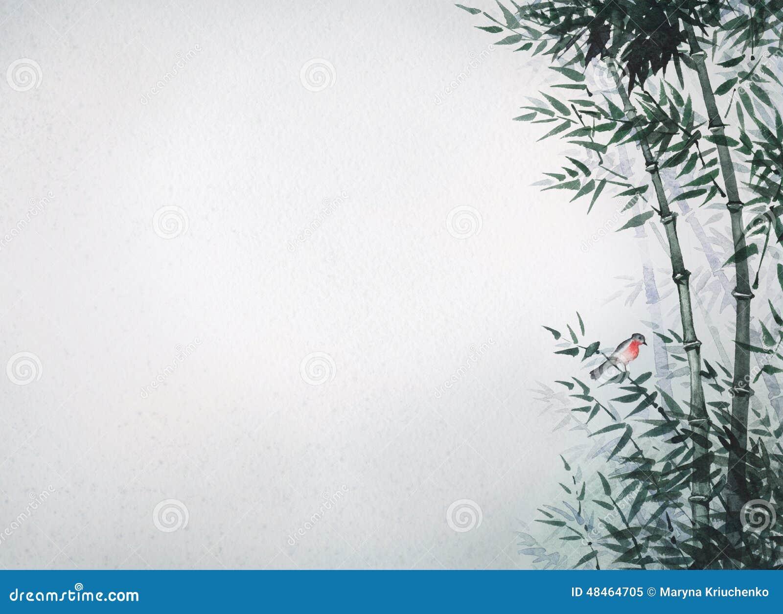 Le petit oiseau dans un verger en bambou la photo dans le - Tout sur le bambou ...