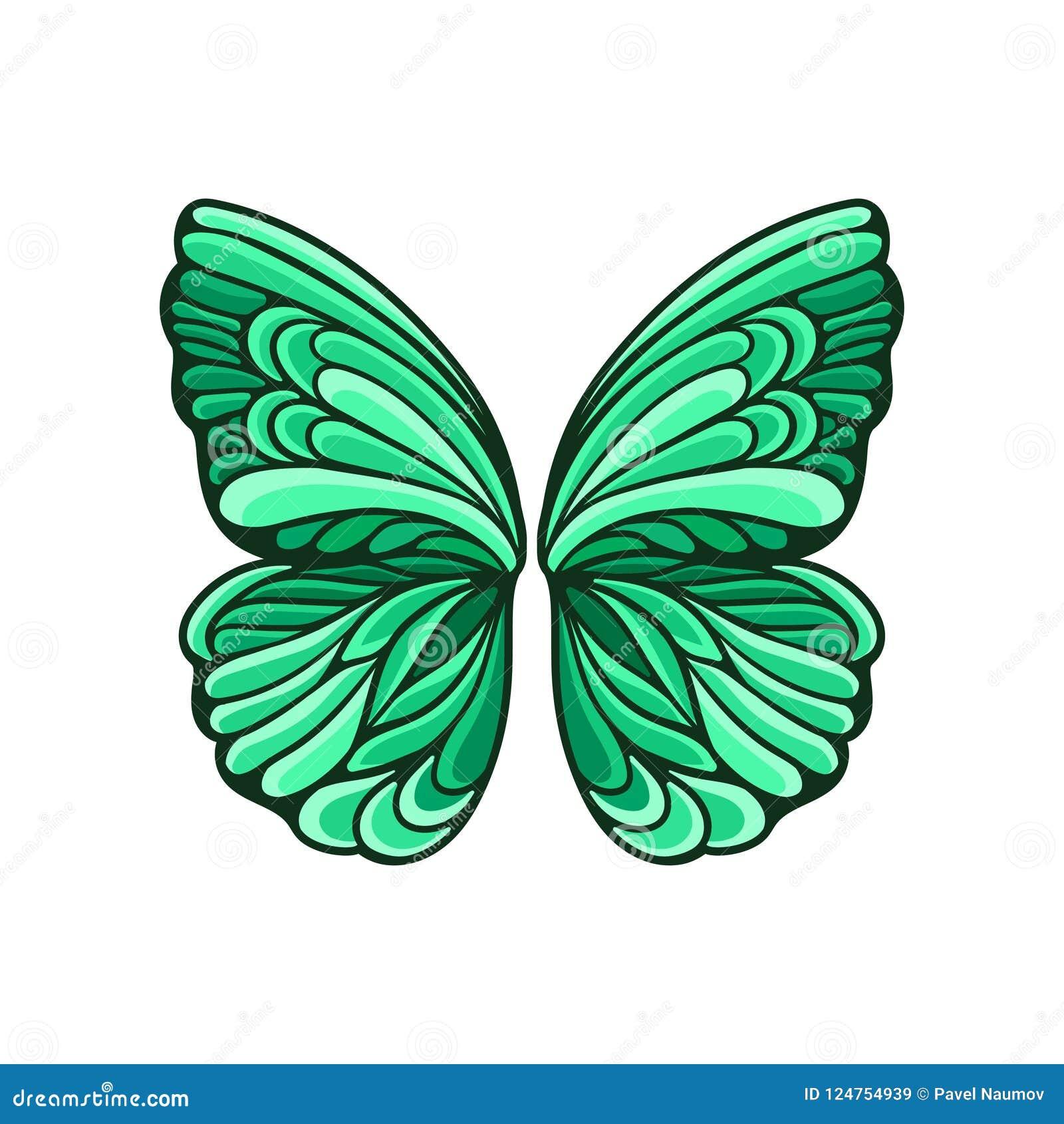 Le Petit Papillon Vert S Envole Avec Le Beau Modele Et La Decoupe Noire Element Plat De Vecteur Pour La Carte Postale Ou L Affich Illustration De Vecteur Illustration Du Vert Papillon 124754939