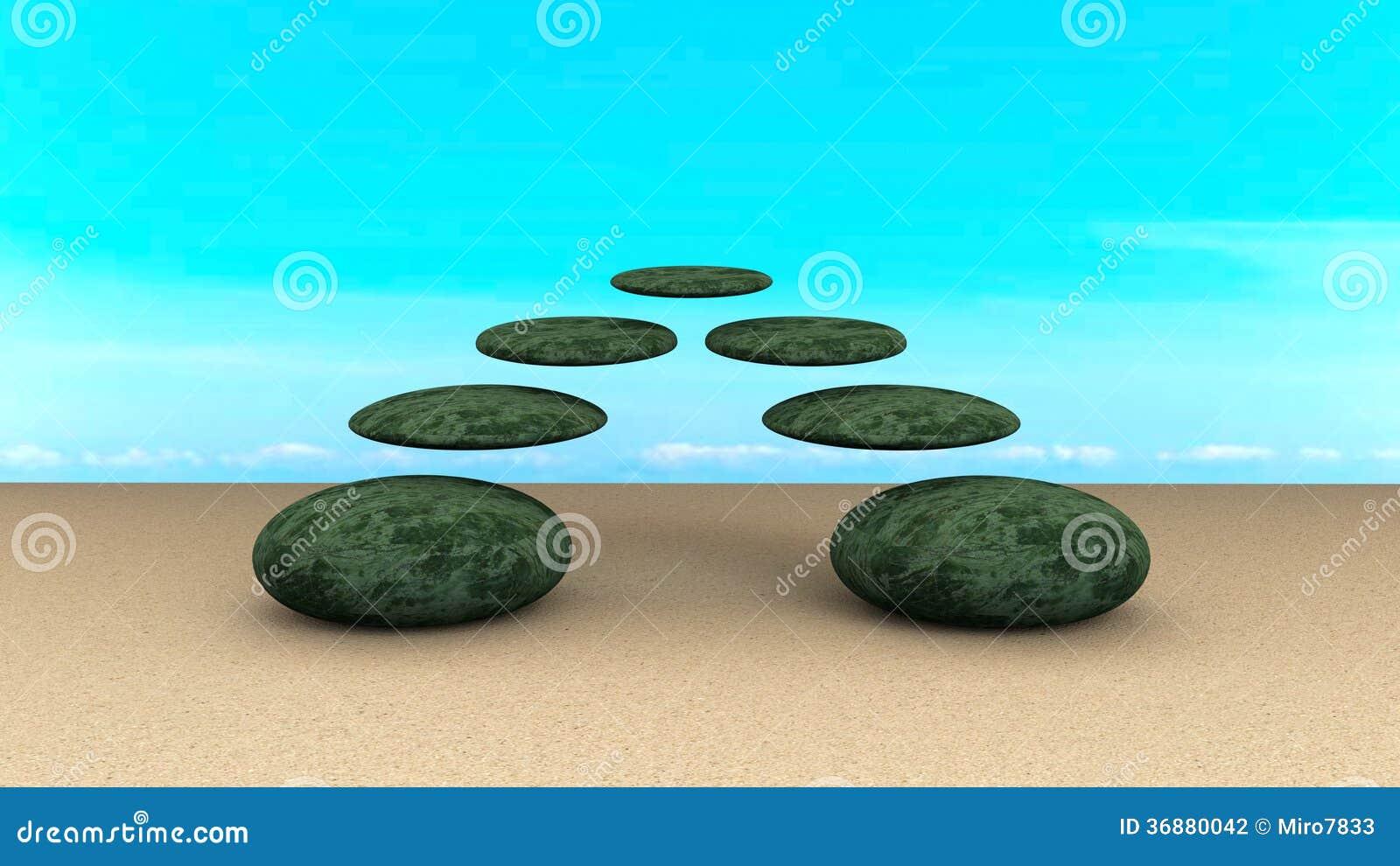 Download Le Pietre Hanno Equilibrato L'estratto Fotografia Stock - Immagine di orientale, minerale: 36880042