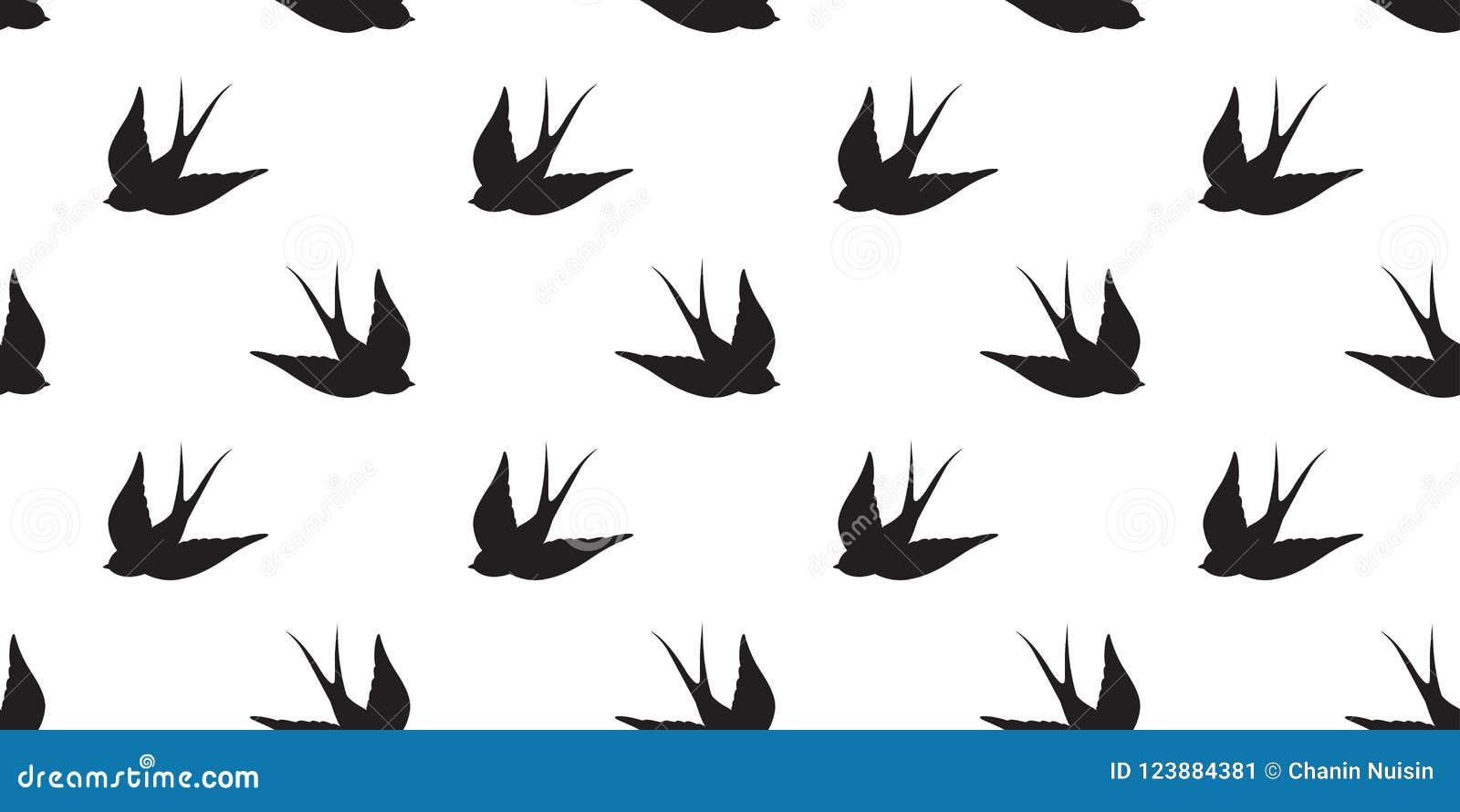 Le pigeon sans couture de vecteur de modèle de mouette d oiseau a isolé le fond de papier peint