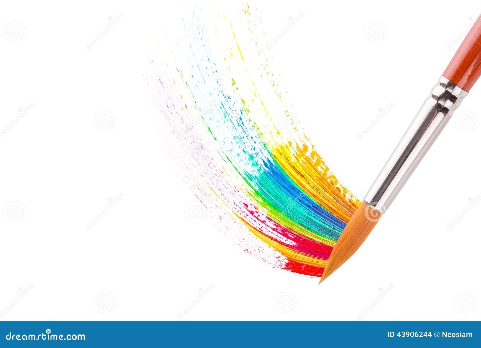 le pinceau avec la peinture l 39 huile chargent photo stock image 43906244. Black Bedroom Furniture Sets. Home Design Ideas