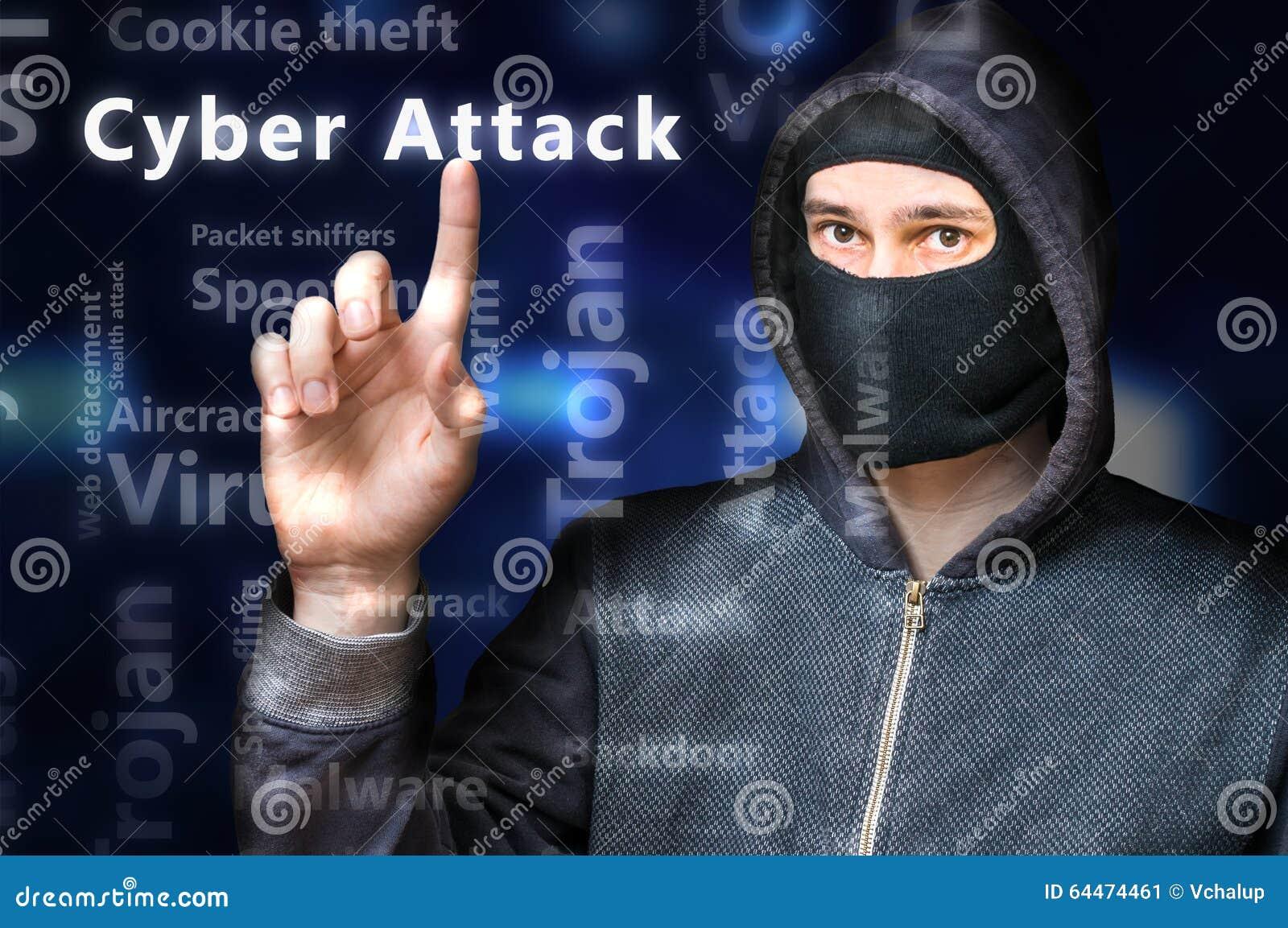 Le pirate informatique anonyme masqué se dirige sur l attaque de Cyber