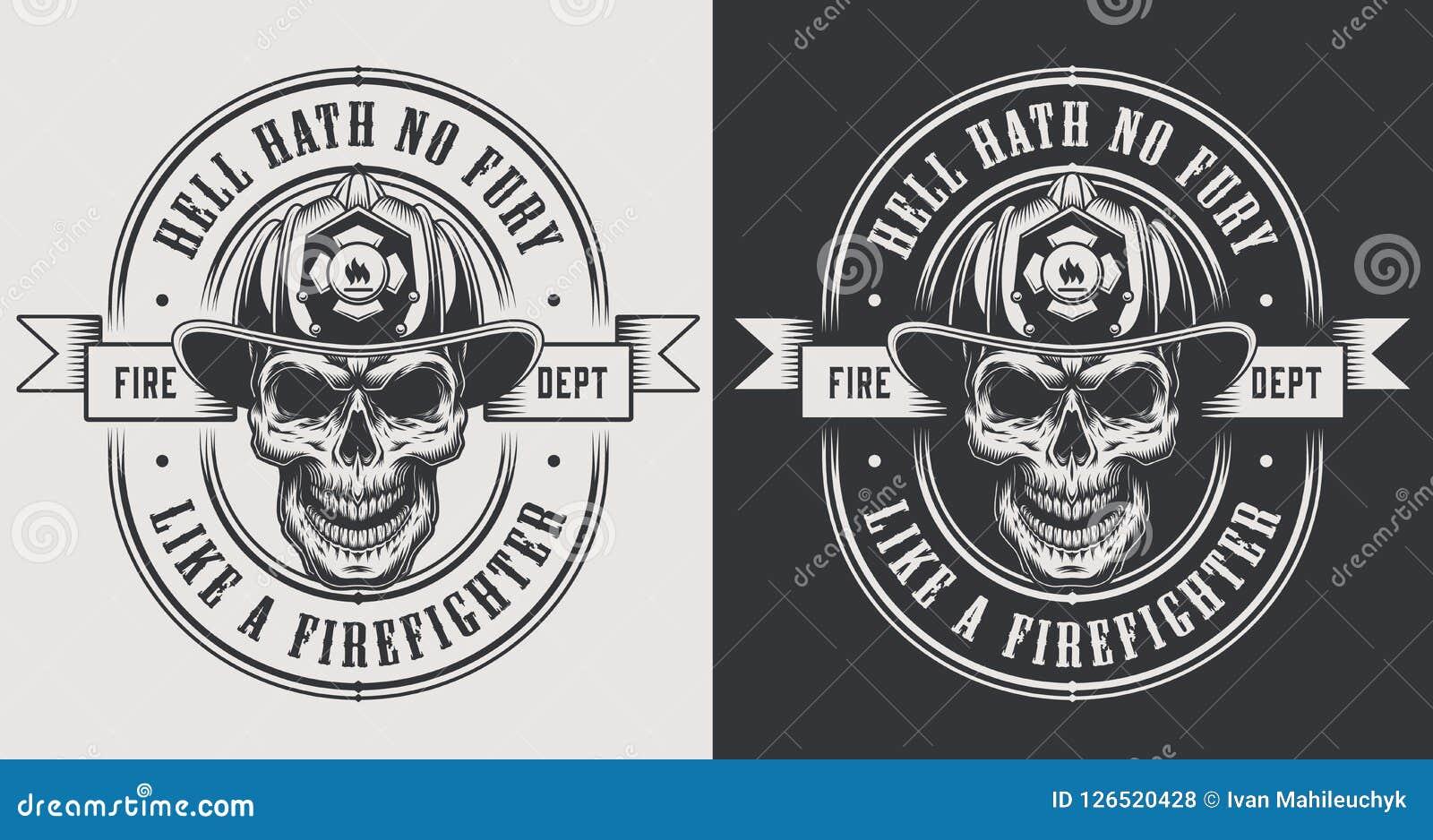 Le pompier monochrome imprime le calibre