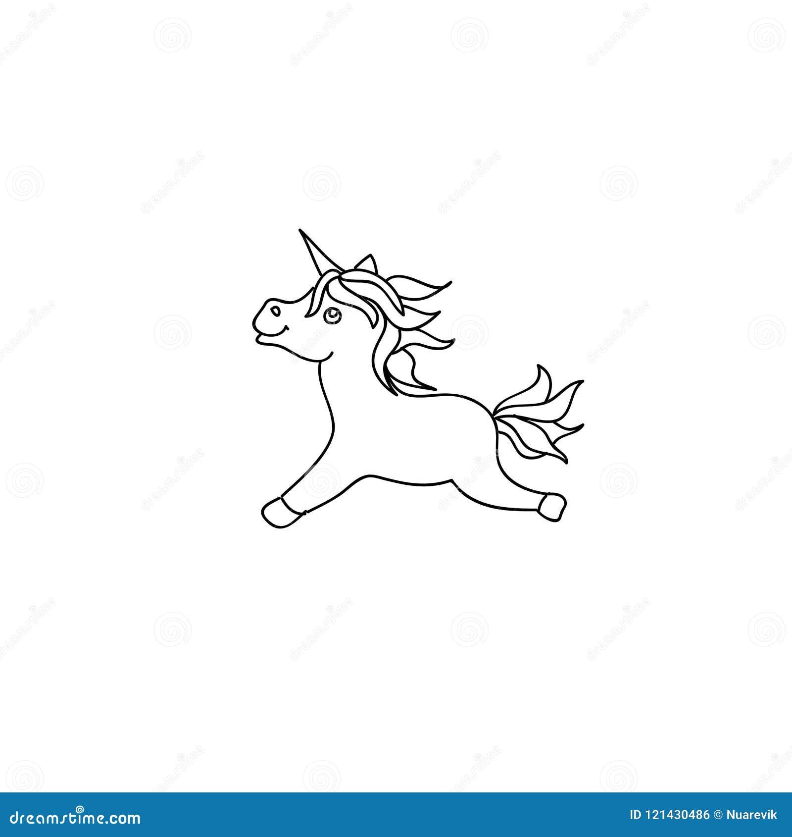 Le Poney Mignon De Licorne De Bebe Badine Schema Page De Coloration