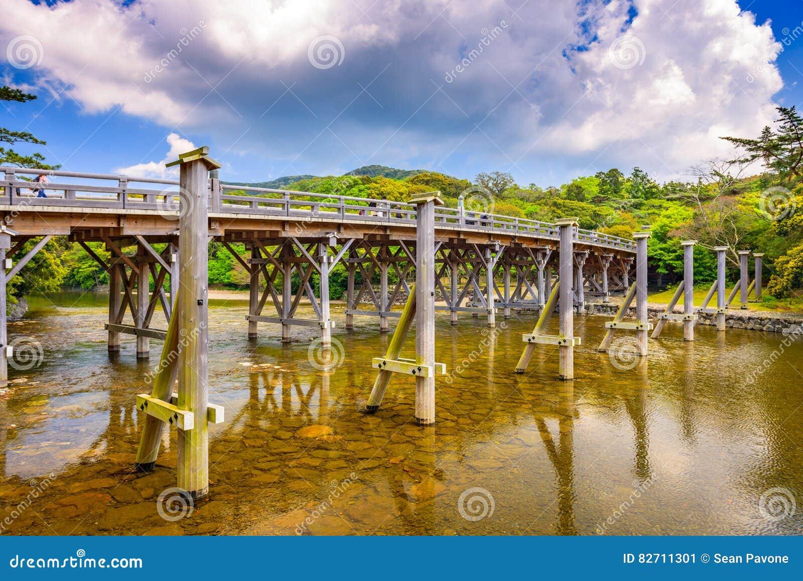 Le pont d Uji d Ise, Japon