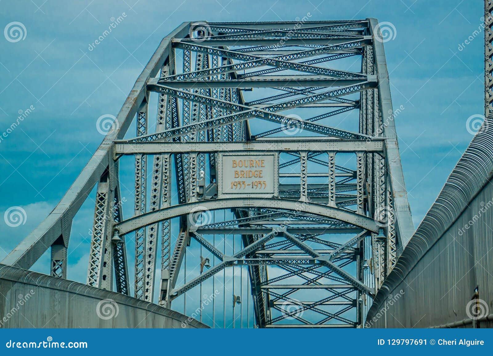 Le pont de Bourne en acier le plus beau en Bourne, le Massachusetts