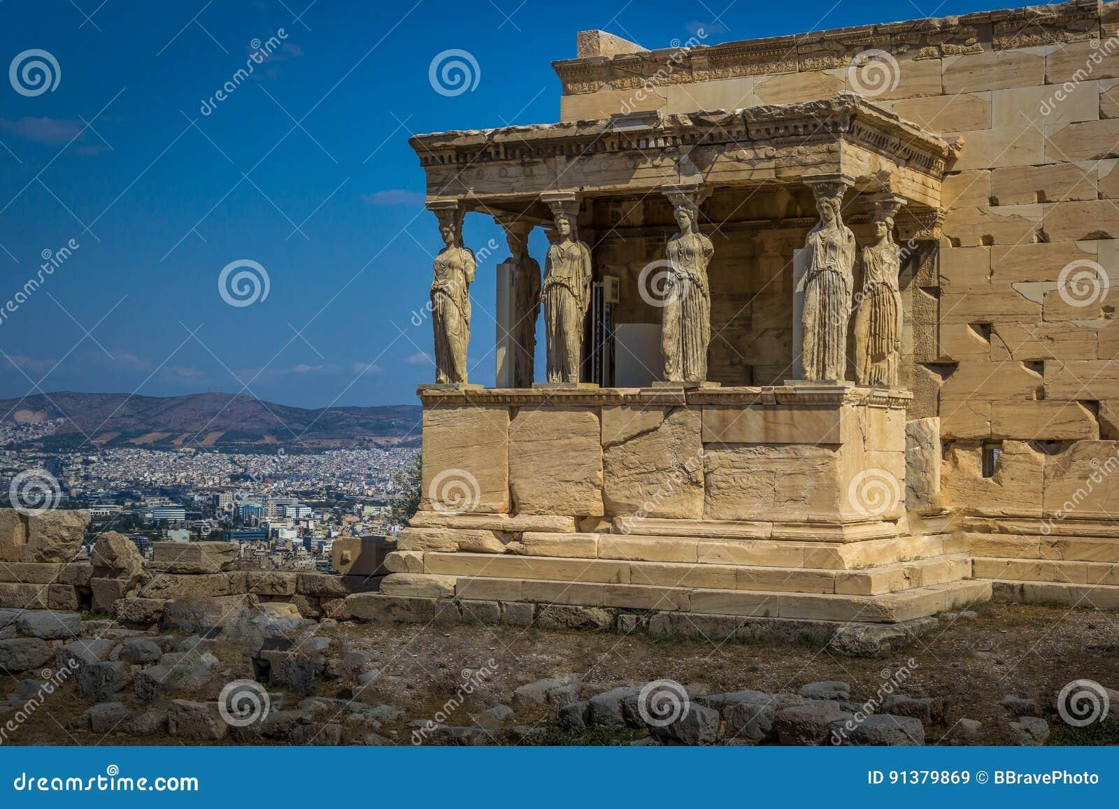 Le porche des cariatides chez l Erechtheion sur l Acropole o
