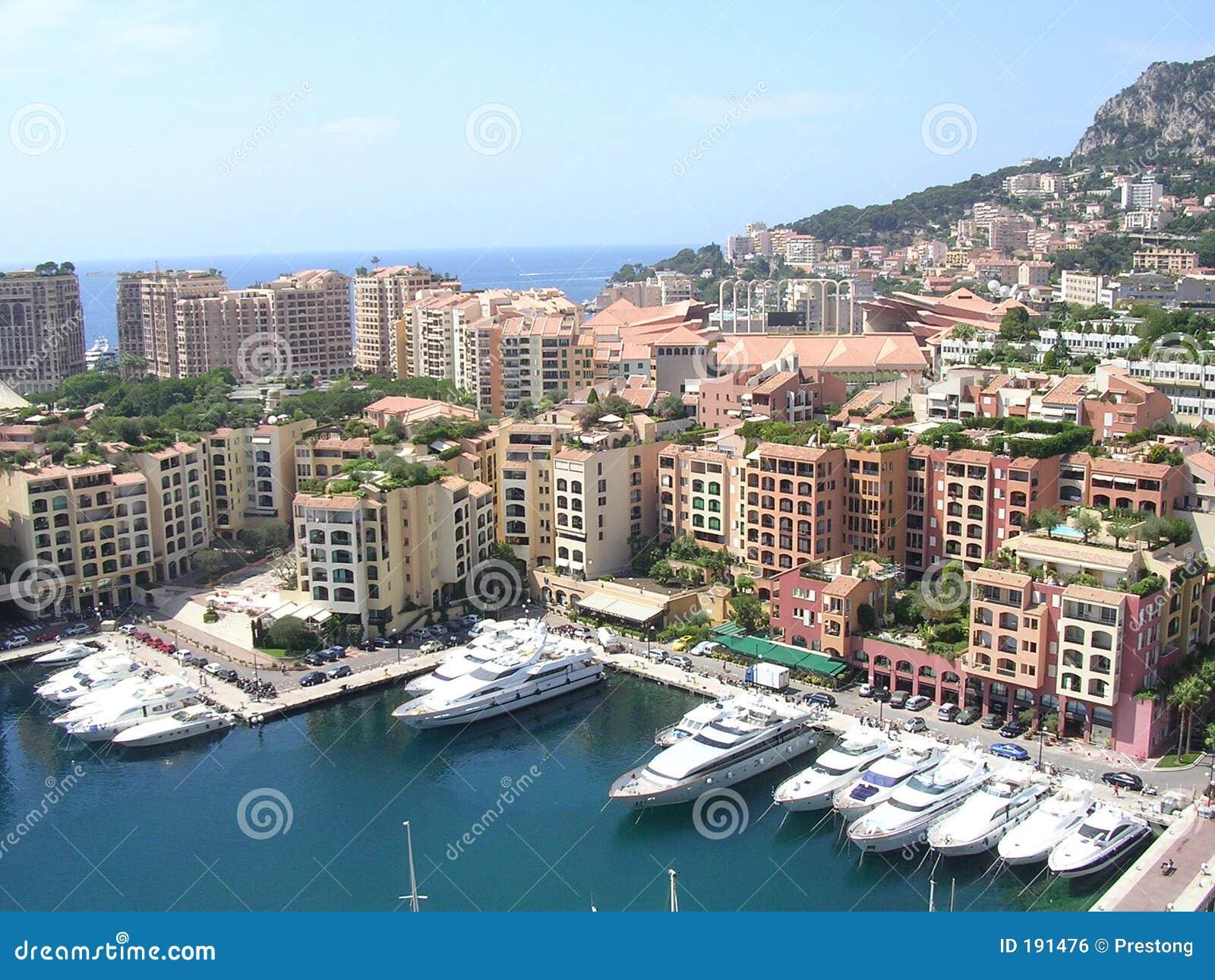 Le port de la La Fontvieille, Monaco.
