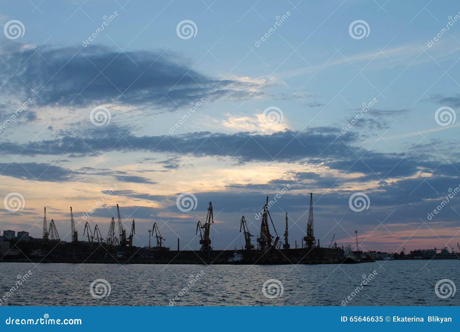 Le port de Rostov-On-Don