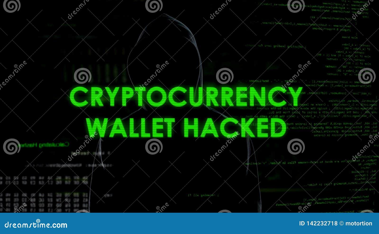Le portefeuille de Cryptocurrency a entaillé, argent de vol criminel de finances de compte