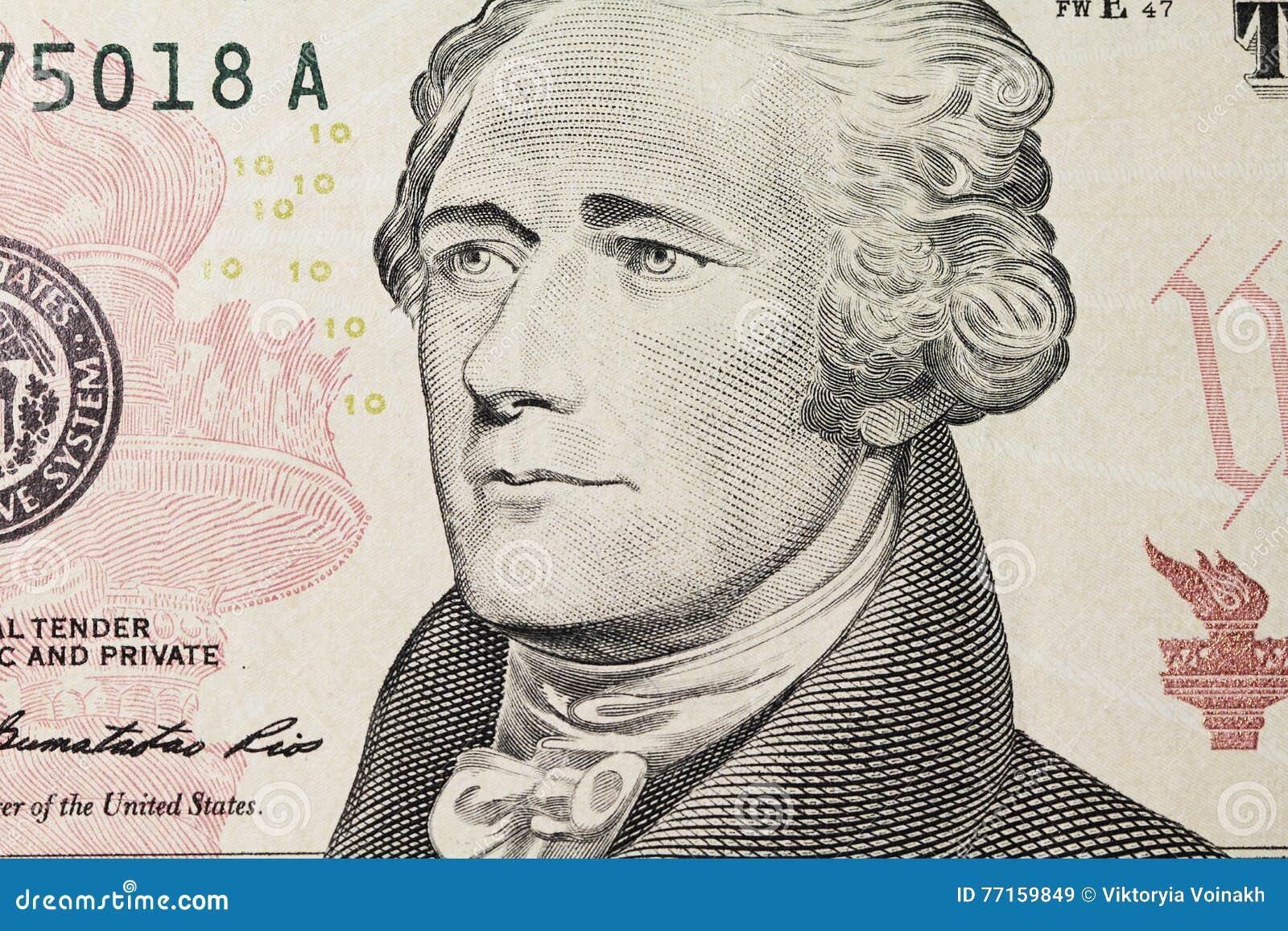 Le portrait de Hamilton sur le dollar
