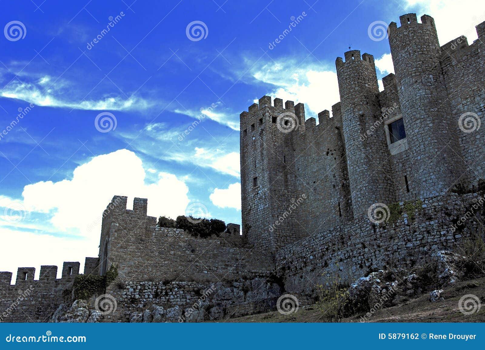 Le Portugal Obidos ; forteresse de ville