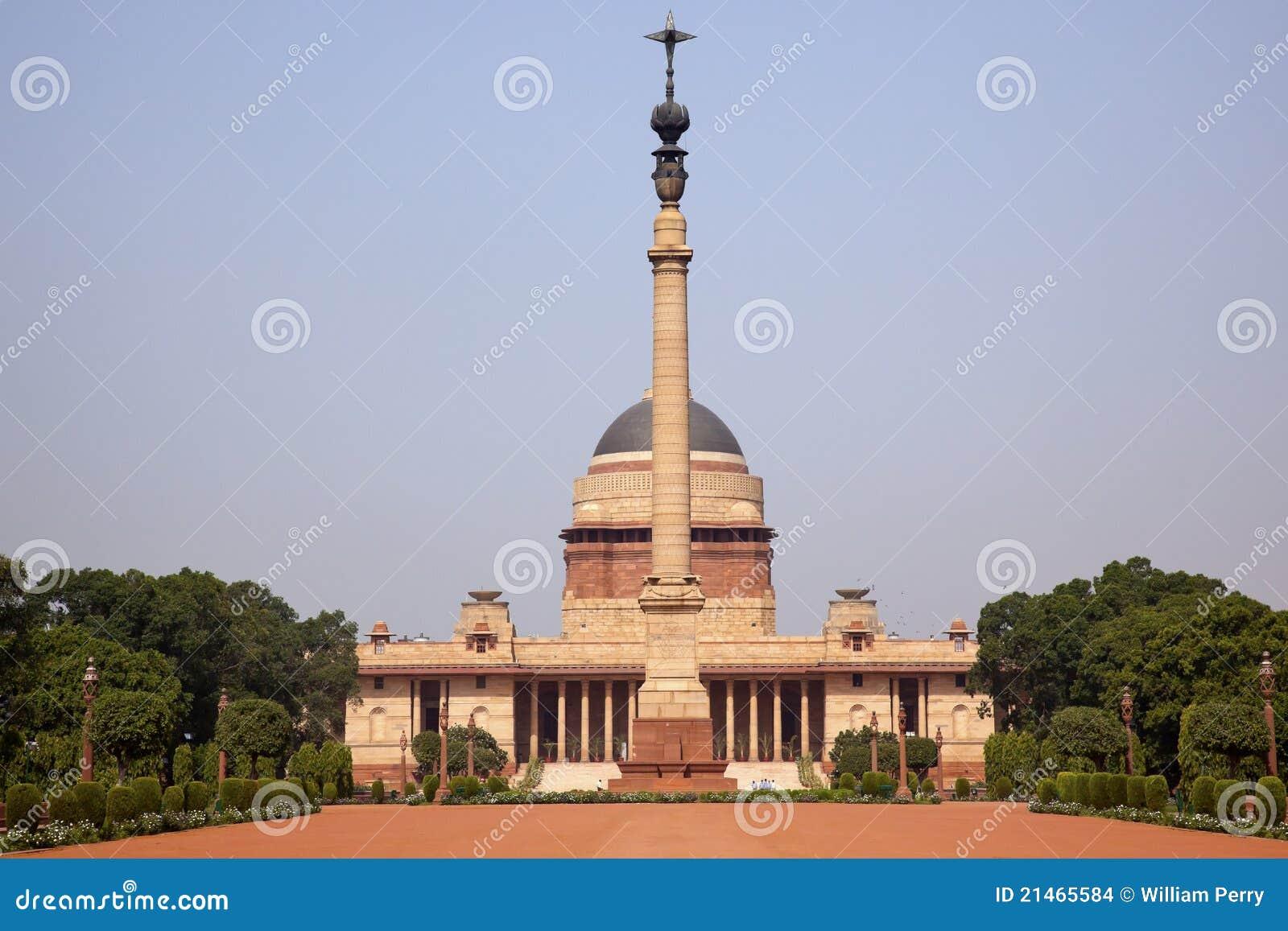 Le Président la Nouvelle Delhi Inde de résidence de Rashtrapati