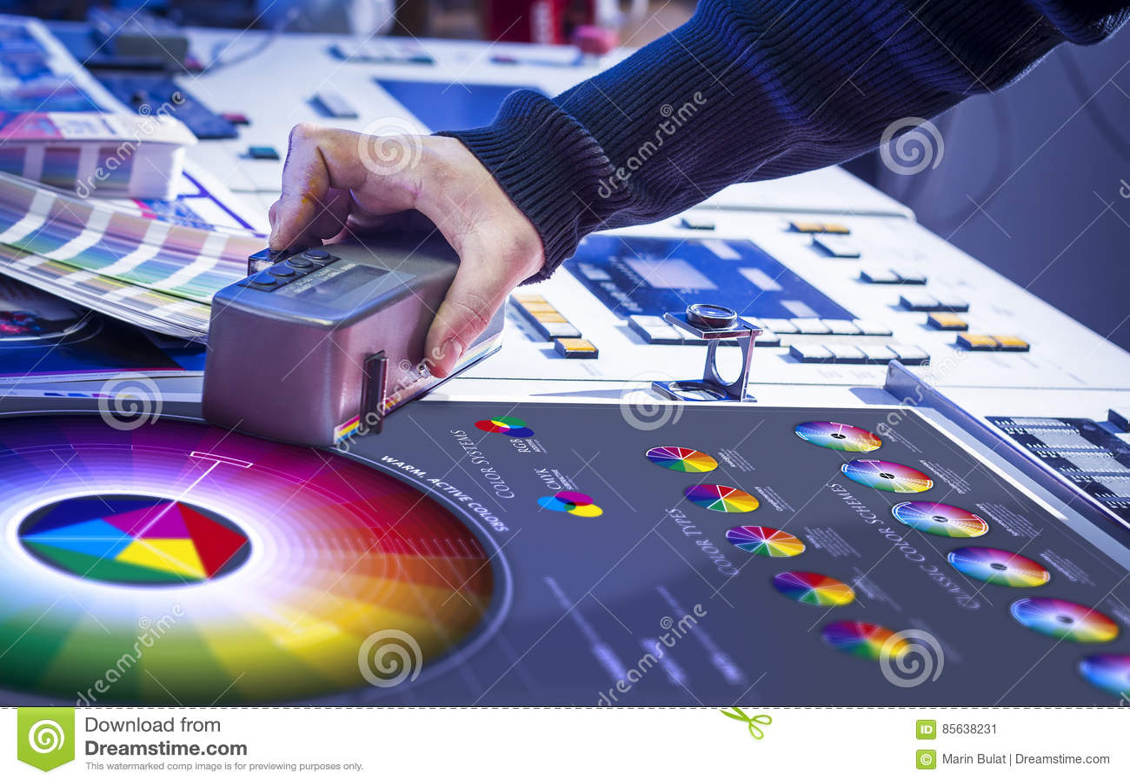 Le processus de la correction d impression offset et de couleur
