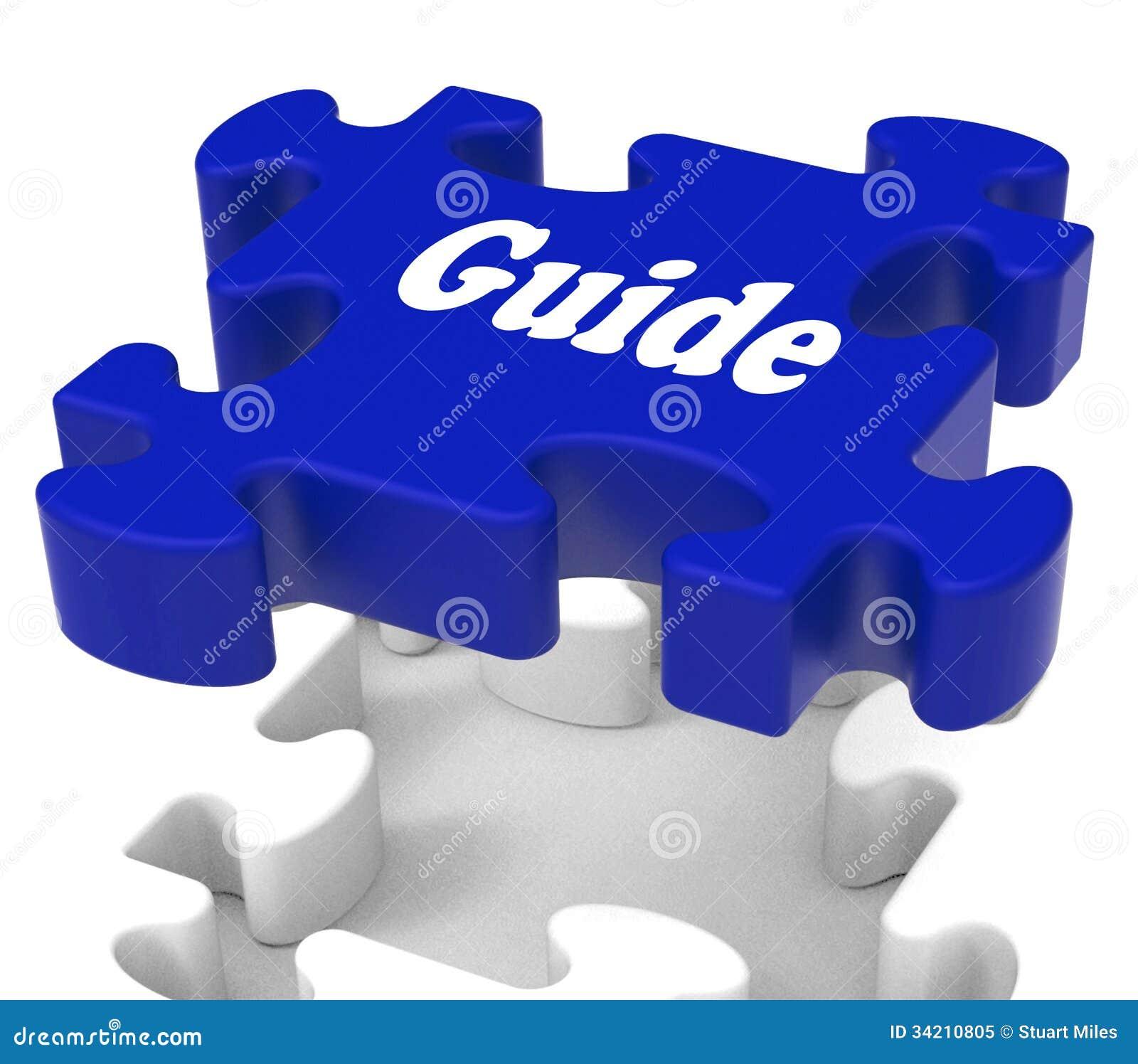 Le puzzle de guide montre la directive de consultation A d instructions d expertise