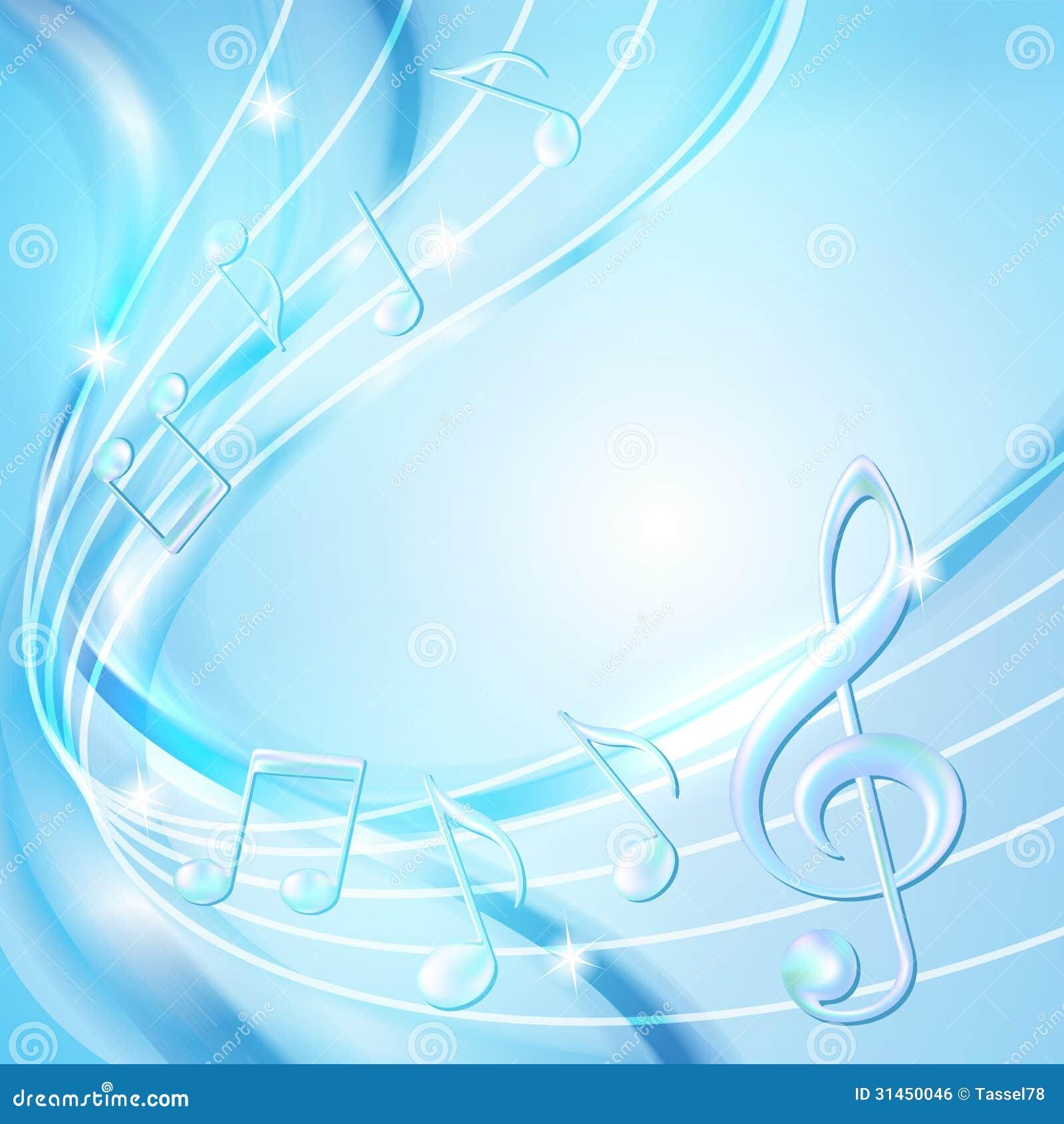 Le Résumé Bleu Note Le Fond De Musique. Image libre de droits ...