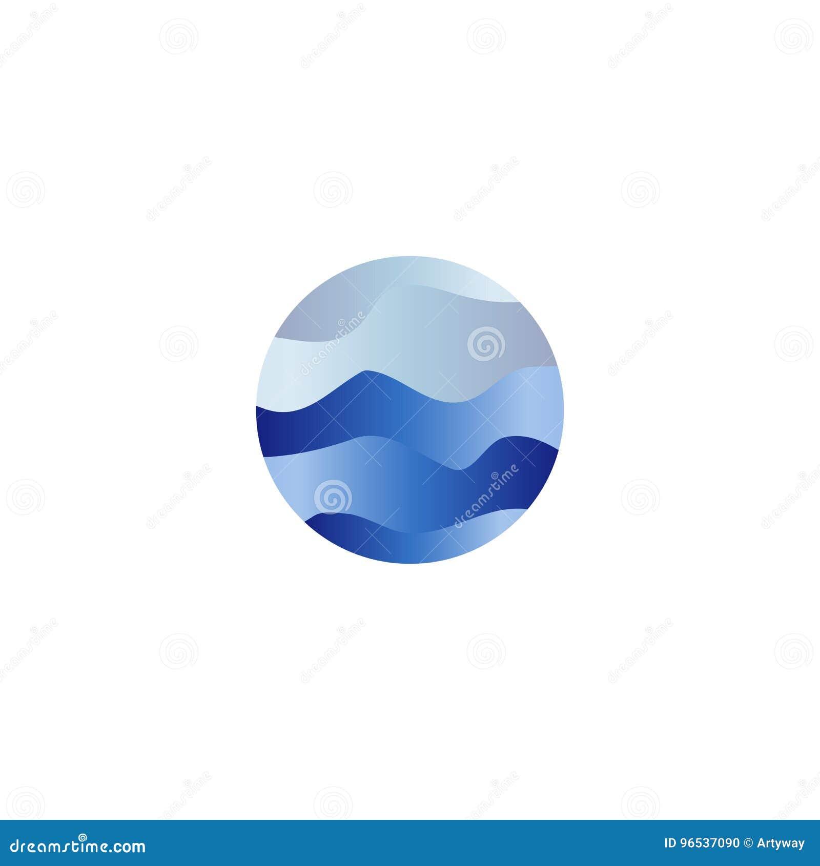 Le Resume A Isole Le Liquide De Forme Ronde L Ocean Bleu De Couleur