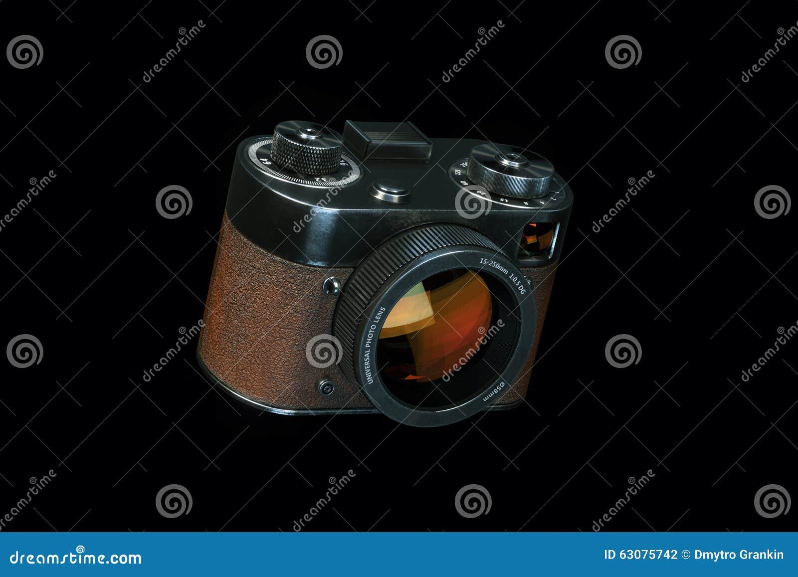 Download Le Rétro Appareil Photo Numérique De Style D'isolement Sur Le Fond Noir Laissé Luttent Illustration Stock - Illustration du matériel, rétro: 63075742