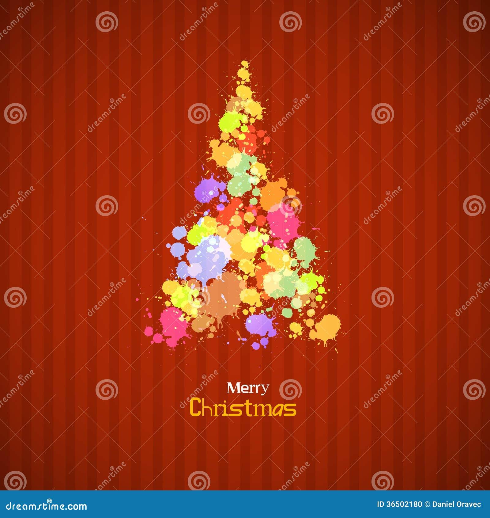 Le rétro arbre de Noël fait à partir éclabousse