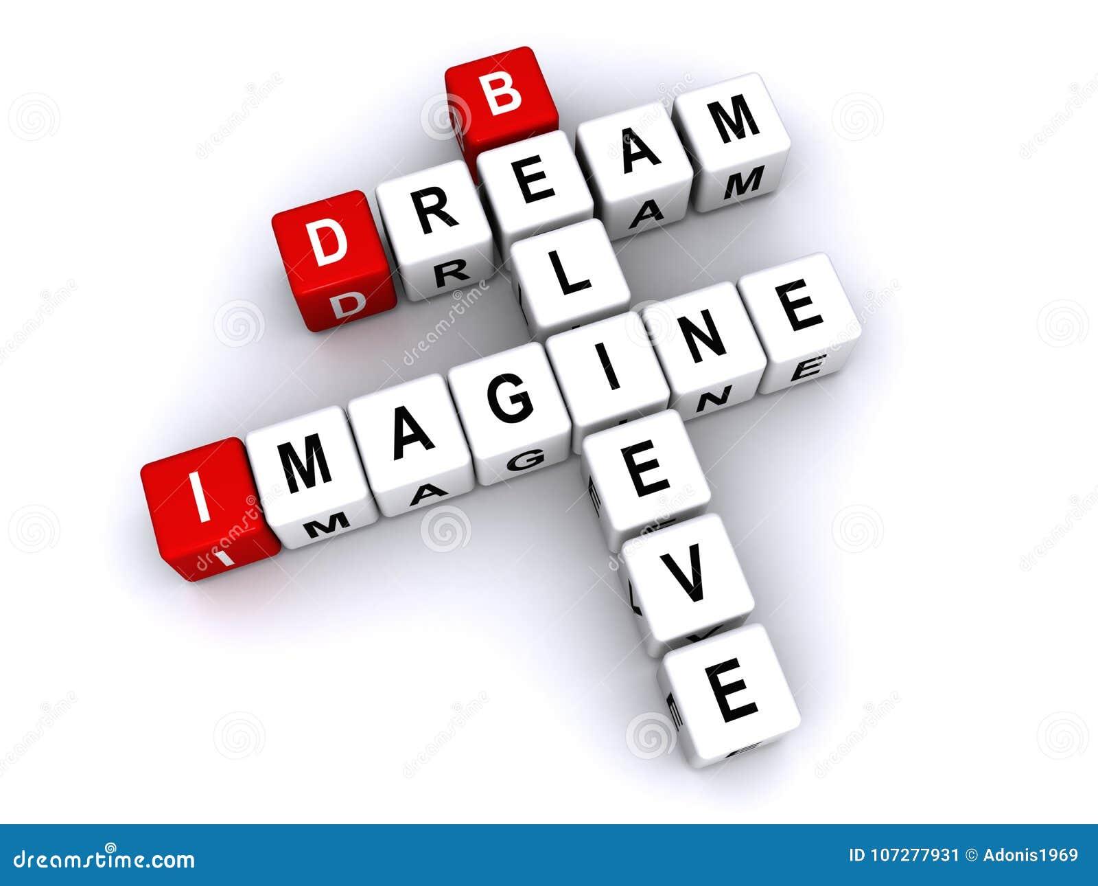 Le rêve imaginent pour croire