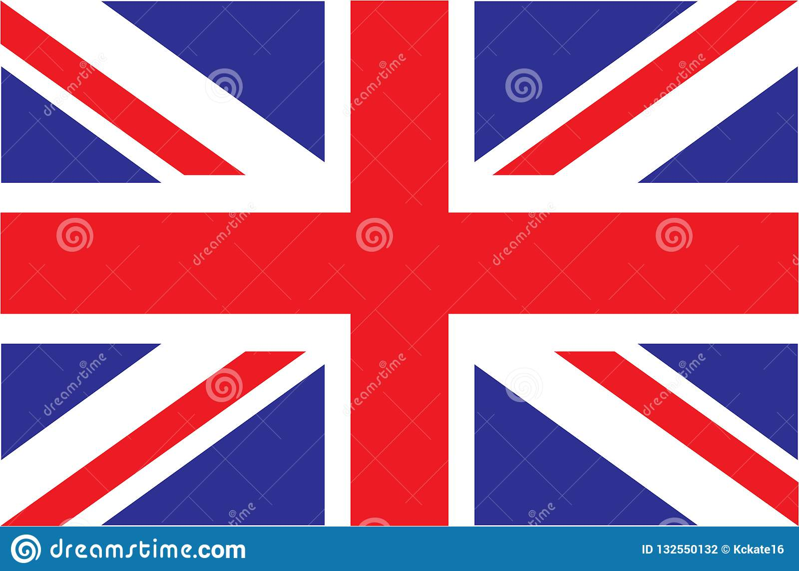 LE R-U Union Jack Indicateur du Royaume-Uni Couleurs officielles Proportion correcte