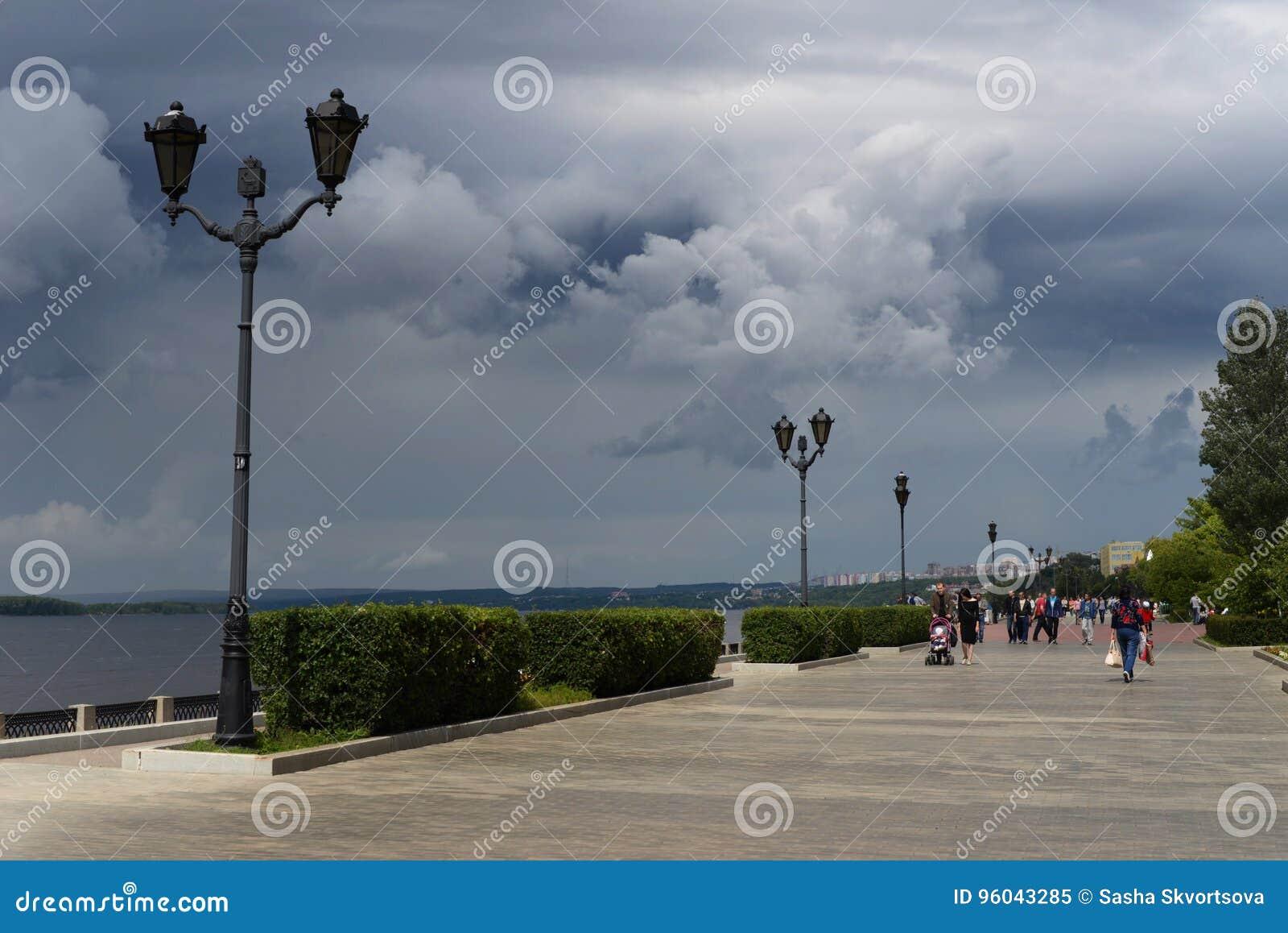 Le remblai de la ville du Samara russe, où la coupe du monde sera tenue