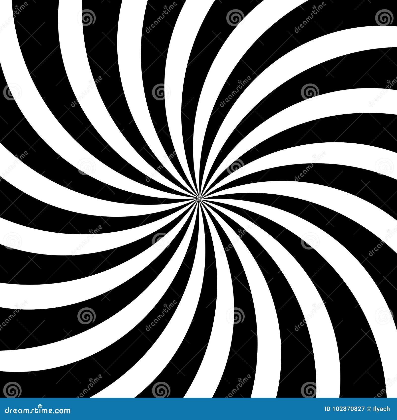 Le Remous Hypnotique Raye Le Fond Noir Blanc Abstrait De