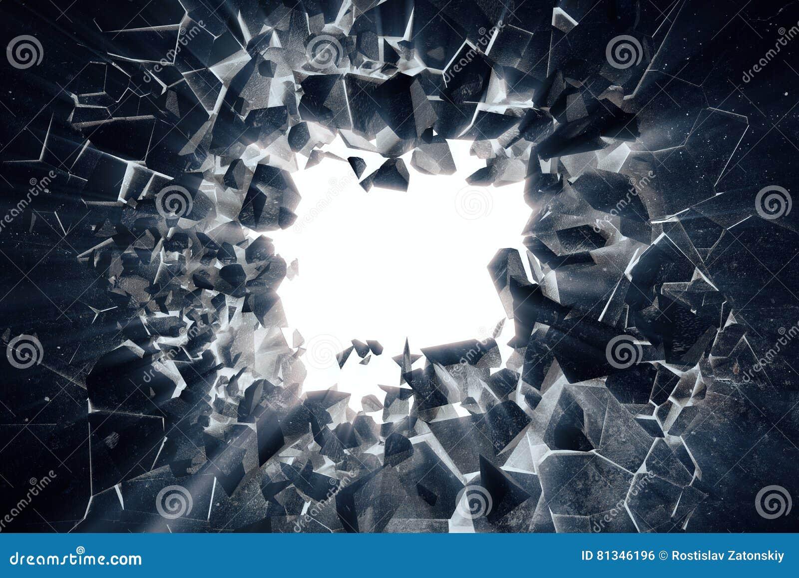 Le rendu 3d a étiré le fond abstrait de la terre avec les rayons légers de volume, effets négatifs de photo