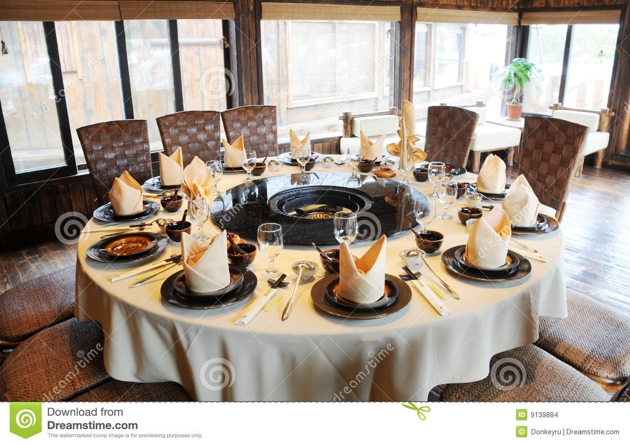 Le Restaurant Chinois L 39 Int Rieur Images Stock Image 9139884