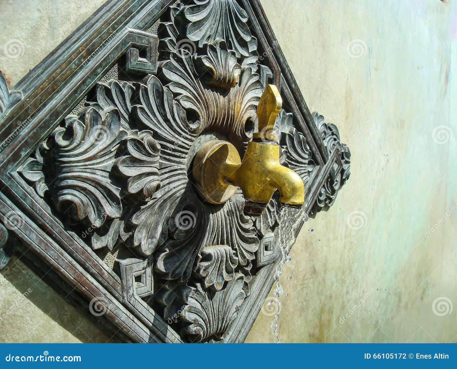 Le robinet de fontaine